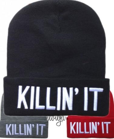 Killing It Beanie Beanies Mütze Hat Letters Aufschrift Schriftzug Blogger Accessoires / Mode Mützen / Beanies
