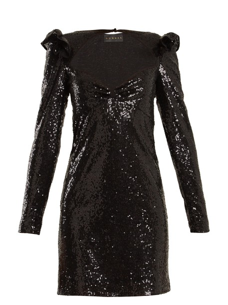 Dundas dress mini dress mini long embellished black