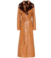 coat,fur,faux fur,leather,brown