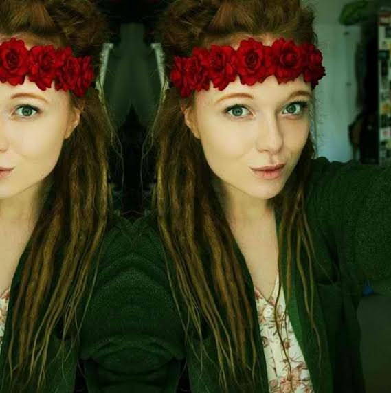 Red rose floral headband flower crown festival wear rave halo red rose bohemian headpiece gypsy halo boho hippie floral crown flower halo