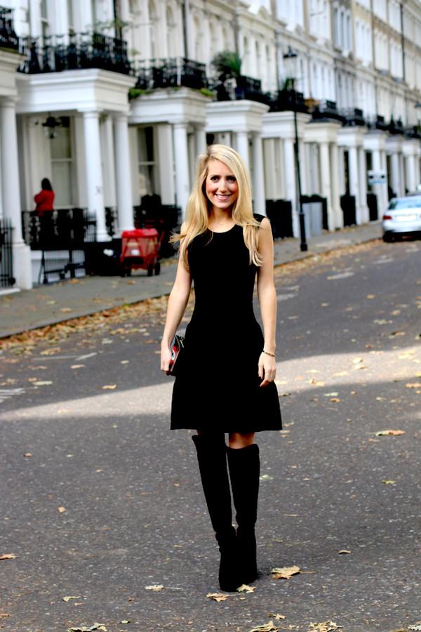 krystal schlegel blogger bag thigh high boots