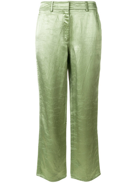 SIES MARJAN culottes women fit silk green pants