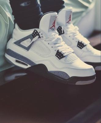 shoes jordans b&w nike air jordan retro jordans cement withe jordan jordan's shoes low top sneakers white sneakers