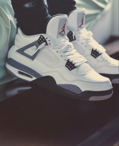 ff969f90c2e0 shoes jordans b w nike air jordan retro jordans cement withe jordan jordan s  shoes low top sneakers