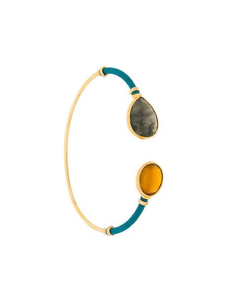 Gas Bijoux women gold grey metallic jewels