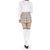 beige tartan check pleated mini skirtDani's Choice