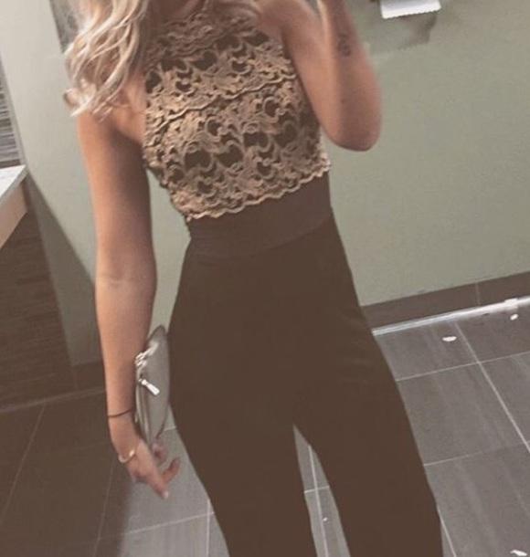 jumpsuit black lace jumpsuit