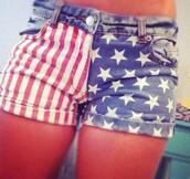 shorts,american flag,short usa,american flag shorts