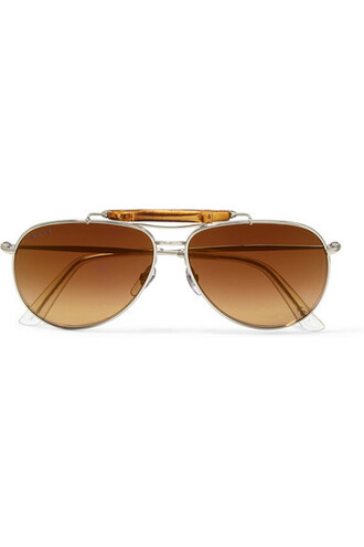 style sunglasses silver brown