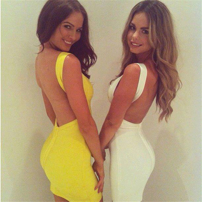 Womens Ladies Sexy Backless Bodycon Evening Party Clubwear Mini Bandage Dress | eBay