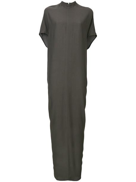dress long women grey