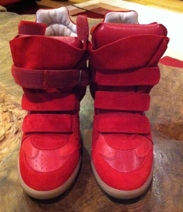 0eb06b2a20 NIB ISABEL MARANT HIGH TOP BEKETT BEKKET SNEAKERS ROUGE RED-SOLD OUT! 38 |  eBay