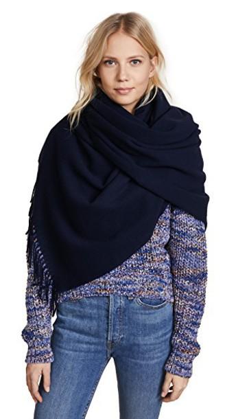 Acne Studios scarf navy