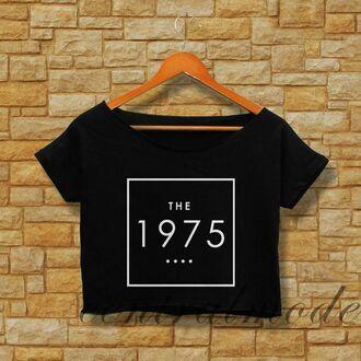 t-shirt white the 1975 shirt