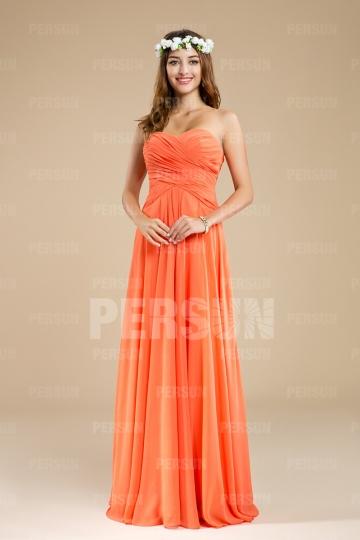 Sleeveless Orange tone Sweetheart Empire Ruching Bridesmaid dress [ZHY125]- US$ 135.99 - PersunMall.com