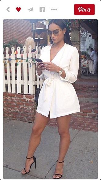 dress white dress mini dress mini skirt style skirt fashion jacket
