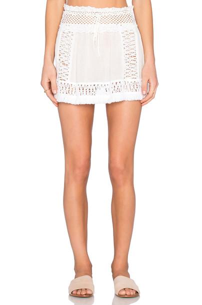 SOFIA by ViX skirt crochet skirt crochet white