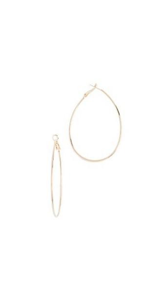 Theia Jewelry earrings hoop earrings gold yellow jewels