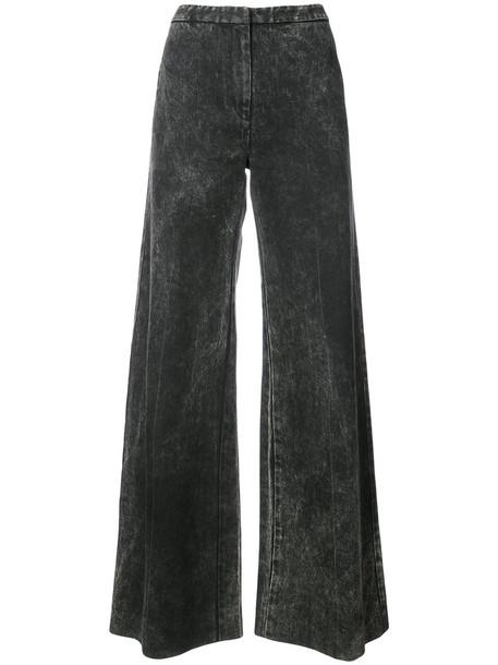 Adam Lippes jeans acid wash women spandex cotton black