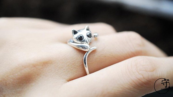 jewels cat rings silver ring