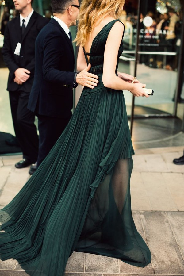Dress Green Emerald Green Emerald Green Long Dress