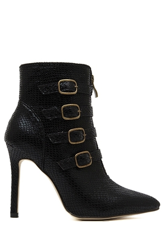 shoes boots fashion black cute girly sexy buckles style faux leather