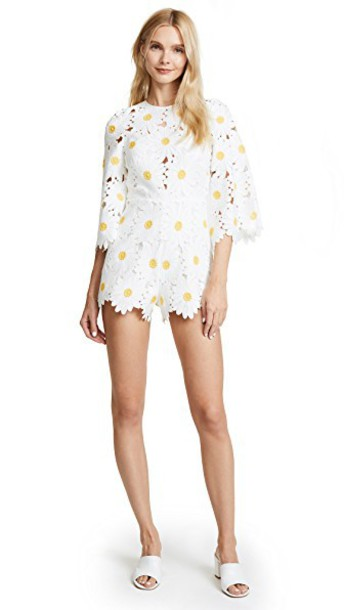Alice McCall You Can Never Tell Romper in white