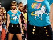 shirt,taylor swift,unicorn,unicorn shirt,shorts