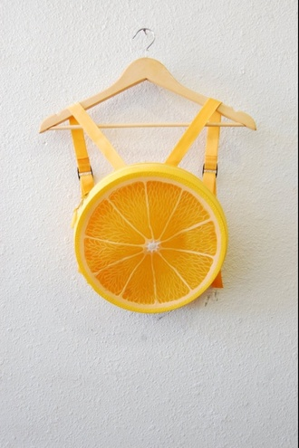 bag indie indie bag orange kawaii grunge backpack kawaii bag fruits roundy vintage fruit shoulder bag fruit bag