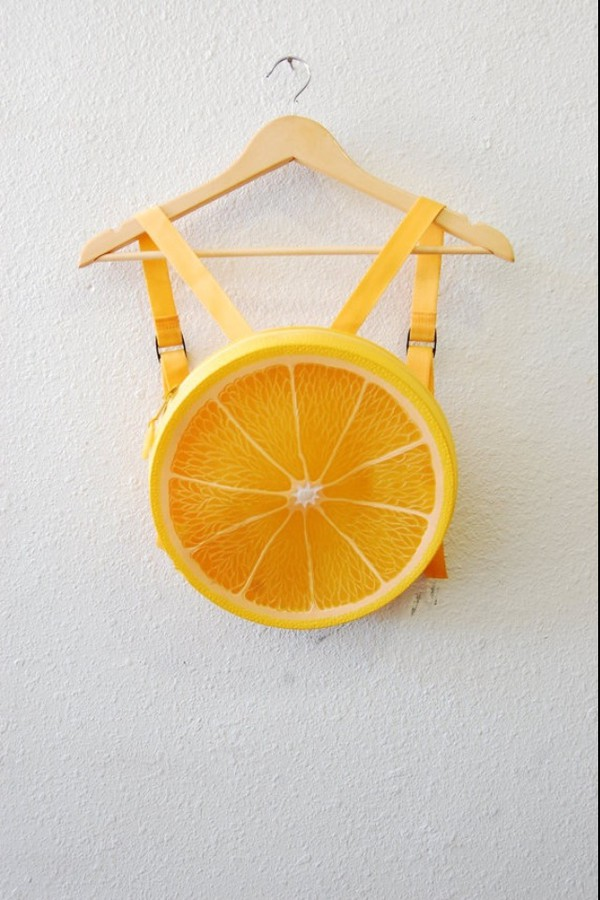 bag indie indie bag orange kawaii grunge backpack kawaii bag fruit shoulder bag fruit bag fruits roundy vintage soft grunge fruits fruit  bag