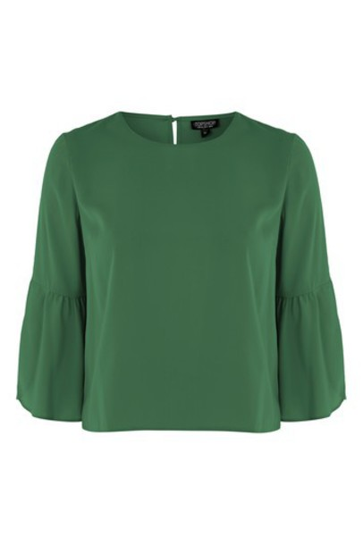 Topshop green top