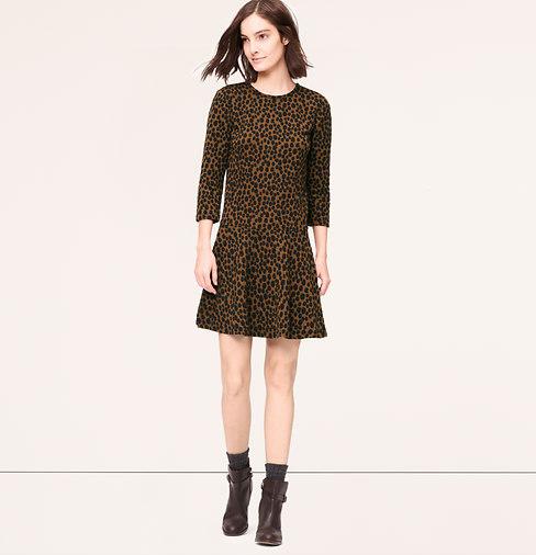Abstract Animal Print Mini Dress