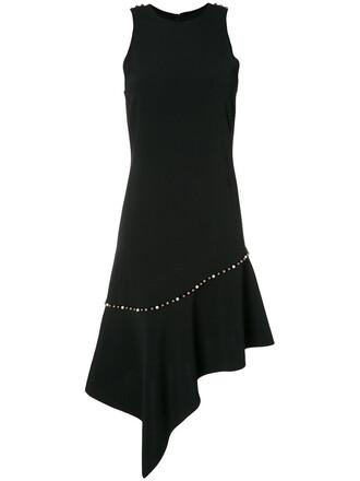 dress studded women pearl black