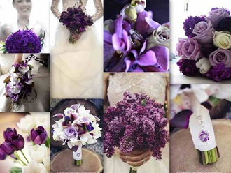 hair accessory purple lavender flowers wedding accessories bouquet vintage wedding dress vintage