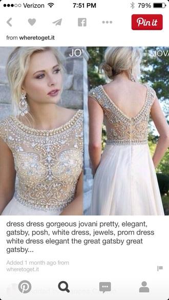 dress champagne prom dress jacket