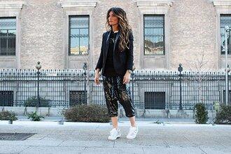 madame rosa blogger jacket sweater pants shoes
