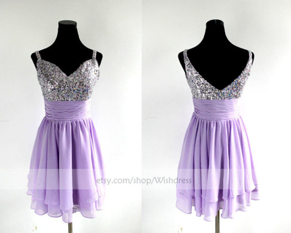 lilac short prom dress short prom dress lilac prom dress lilac homecoming dress sequins prom dress sweetheart prom dresses prom dress cocktail dress