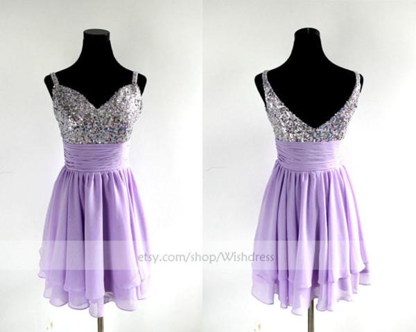 lilac short prom dress short prom dress lilac prom dress lilac homecoming dress sequins prom dress sweetheart prom dresses prom dress cocktail dress