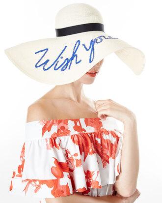 hat straw hat embroidered sun hat