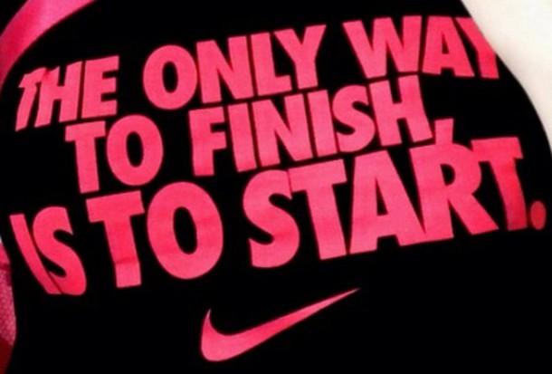 Nike Motivational t Shirts T-shirt Black Nike Fitness