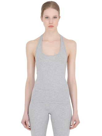 tank top top racerback cotton black grey