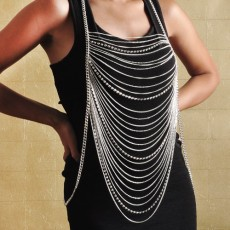 Draped Body Chain with Rhinestone-Choose Your Favorite!