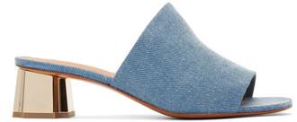 denim mules blue shoes