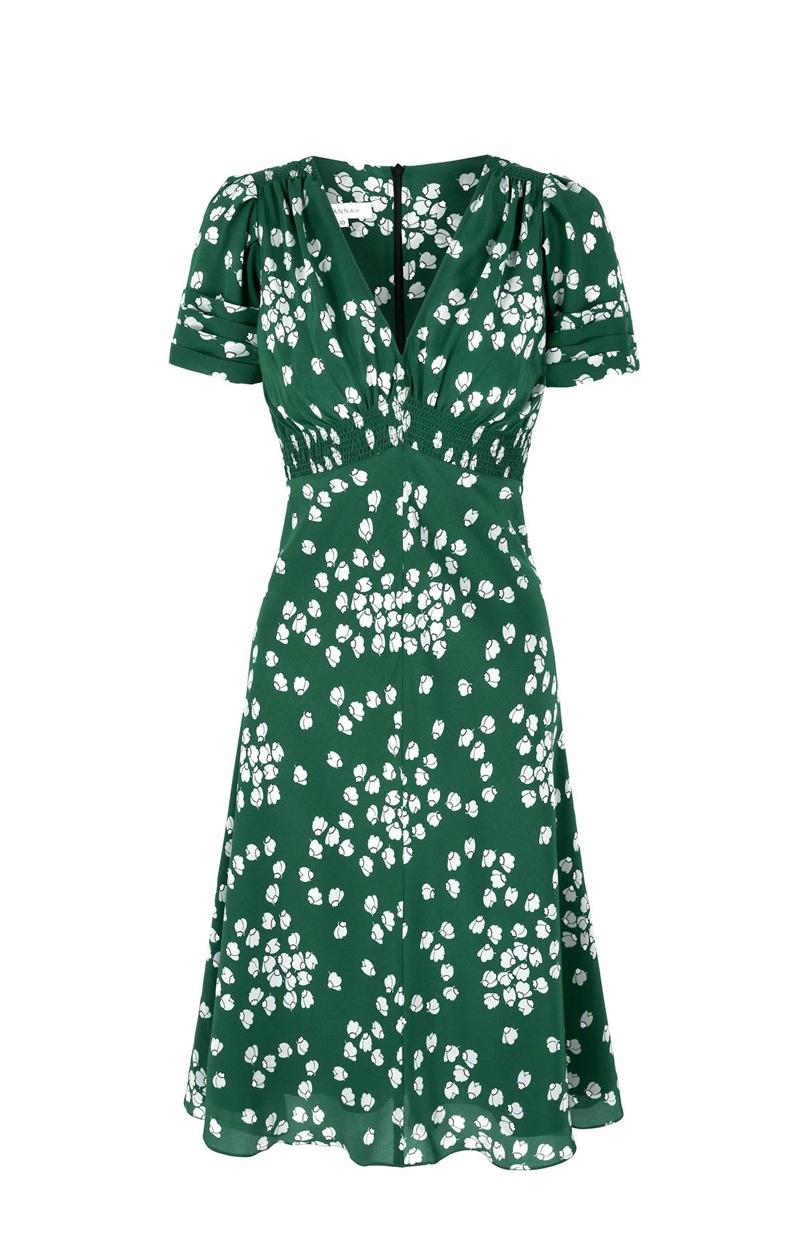 30s vintage print tea dress