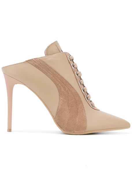 Fenty x Puma women heels leather nude shoes