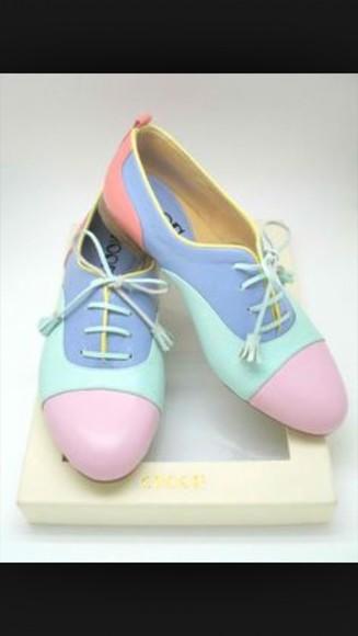 shoes oxfords pastel