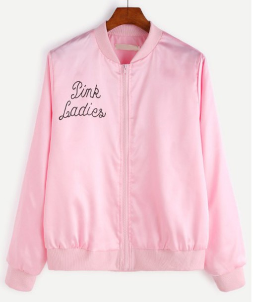Jacket: girl, girly, girly wishlist, pink, satin, zip, satin ...