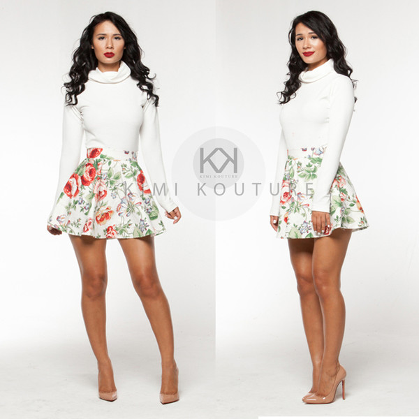 skirt kimikouture skirt set two-piece peplum