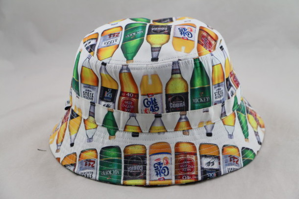 hat bucket hat beer liquor colt rare 40oz badwood beer hat
