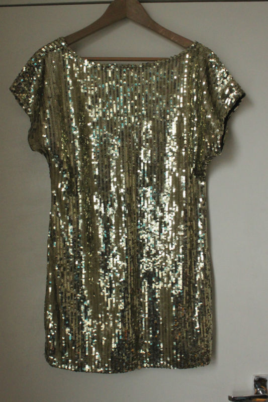 Gold sequin dress size 14